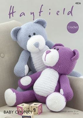 Hayfield Baby Chunky - 4836 Toy Bears Crochet Pattern